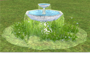 fountain spilling over