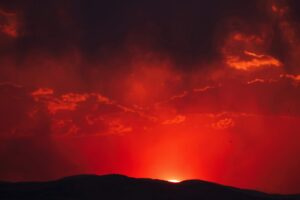 red sky - anger, hostility, and rage